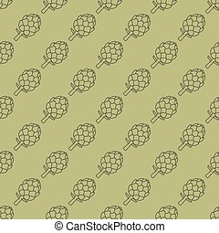 artichoke green seamless pattern - vector illustration. eps...