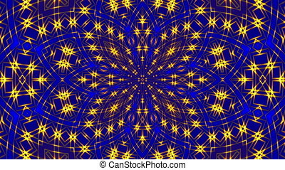 abstract blue motion background, kaleidoscope