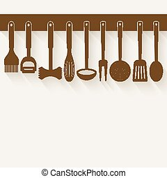 Kitchen Utensil Set - vector illustration eps 10