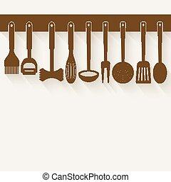 Kitchen Utensil Set - vector illustration. eps 10