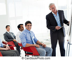 Portrait of international business people at a conference