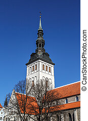 St Nicholas Church - Front view of the medieval former St...