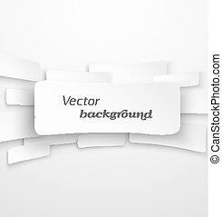 Abstract white paper banner background with drop shadow...