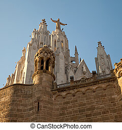 Tibidabo - The Sagrat Cor church atop the mountain...