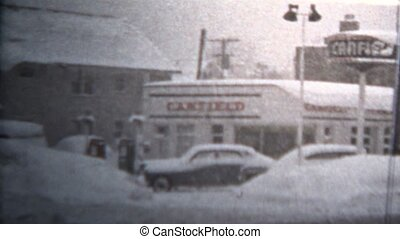 1957 - Winter Blizzard Covers East - Original vintage 8mm...