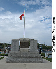 Local Cenotaph in Tobermory Ontario - Cenotaph