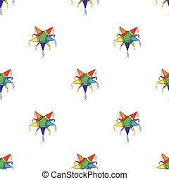 Mexican star pinata pattern