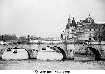 Paris - view of the river in Paris