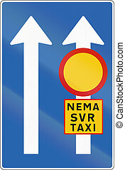 Restricted Right Lane In Iceland - Icelandic road sign:...