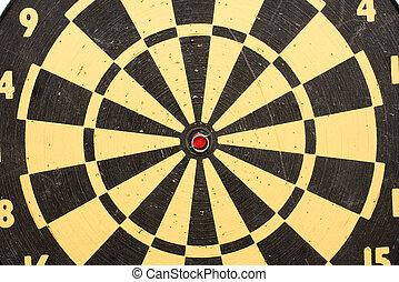Darts - Closeup detail of a used darts board