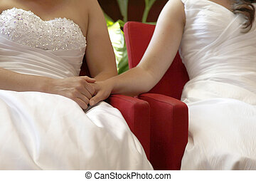 two brides getting married - two brides on the verge of...