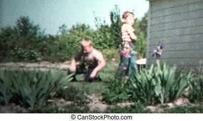 1957 - Young Brothers Matching - Original vintage 8mm home...