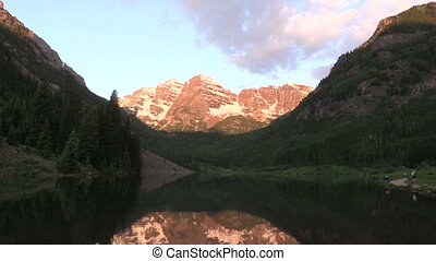 Sunrise at Maroon Bells - sunrise at maroon bells aspen...