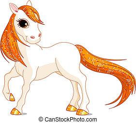 Beautiful horse - Vector Illustration of magic beautiful...