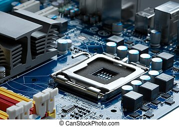 Motherboard - CPU socket on a computer motherboard