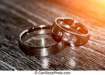 Wedding rings - Two nice wedding rings. Love concept...