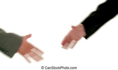 Handshake - Bussines hand shaking will show succesful...