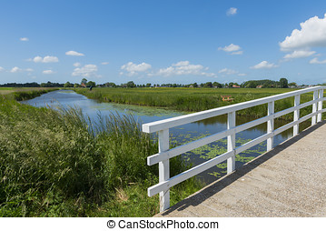 Bridge and Ditch at Aartswoud - Bridge at Aarstwoud in...