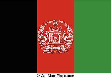 Afghanistan Flag - The national flag of Afghanistan in red...