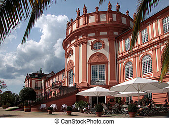 Biebrich Palace - Facade of the Biebrich Palace in...