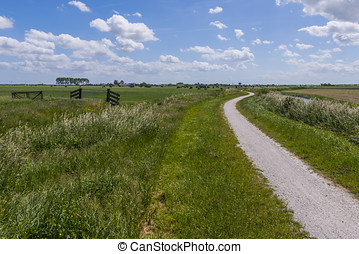 Cycling Path at Aartswoud - Cycling Path at Aarstwoud in...