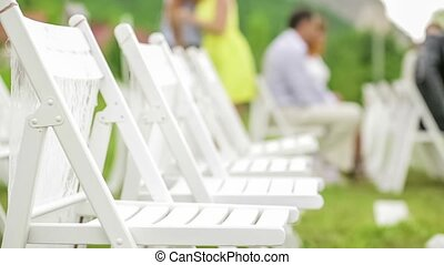Chairs For Guests At Wedding - Close-up. Chairs for guests...