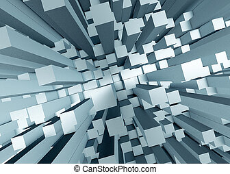 Abstract mosaic 3d background - Illustration of abstract...