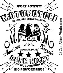 Motorcycle Eagle American Logo Emblem Graphic Design