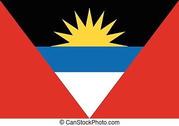 Antigua and Barbuda Flag - The national flag of Antigua and...