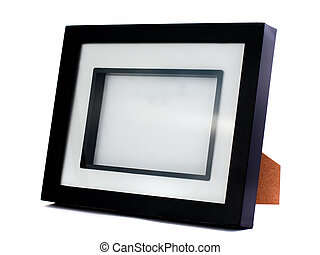 Simple black photo frame - Simple empty and black photo...