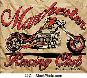 Illustration sketch motorcycle with