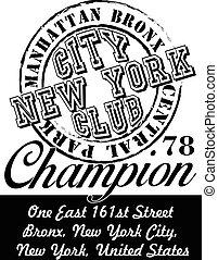 new york city graphic design vector