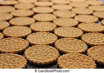biscuits - lie on a wooden board cookies infinitely