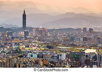 Taipei Taiwan Skyline - Taipei, Taiwan city skyline.