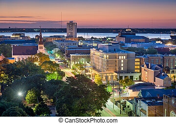Charleston Cityscape - Charleston, South Carolina, USA...