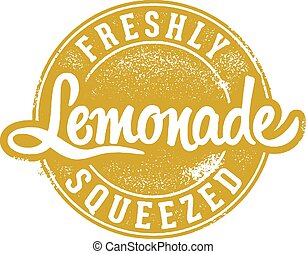 Vintage Fresh Squeezed Lemonade - Vintage style stamp design...
