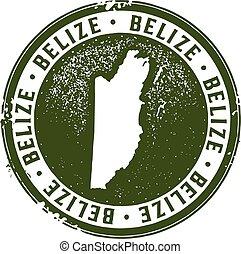 Vintage Style Belize Stamp - Belize Central America