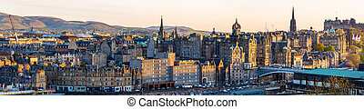 Panorama of the city centre of Edinburgh - Scotland