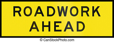 Roadwork Ahead in Australia - An Australian temporary...