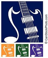 stylized guitar