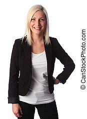 Attractive businesswoman in jacket - Young attractive...