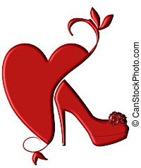 The Way to a Womans Heart - An illustration of a red...