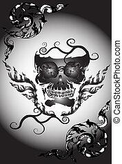 skull art thai