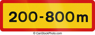 Distance And Length In Iceland - Icelandic traffic sign...