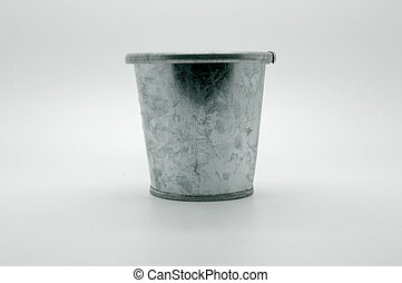 Old retro zinc bucket, pot