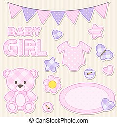 Scrapbook elements for girl