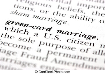 Green-card marriage - Dictionary word Green-card marriage