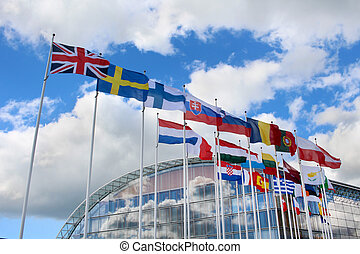 European Union Flags - Flags of the member states of the...
