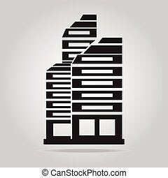 Office Building icon vector illustration