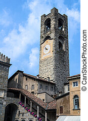Clock tower - Ancient clock tower in a village in northern...